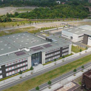 Dortmund, Deutschland, 13.07.2013, Luftbild Gewerbegebiet Phoenix West am alten Hochofen des früheren Stahlwerkstandortes. Foto: Michael Printz / PHOTOZEPPELIN.COM
