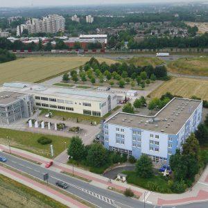 Dortmund, Deutschland, 17.07.2013, Luftbild Dortmund, REFA Group und TRYP Hotel an der Technischen Universität nahe der Anschlußstelle Barop der A40. Foto: Michael Printz / PHOTOZEPPELIN.COM