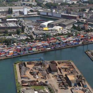 Dortmund, Deutschland, 08.07.2013, Luftbild Hafen Dortmund, CTD, Container Terminal Foto: Michael Printz / PHOTOZEPPELIN.COM