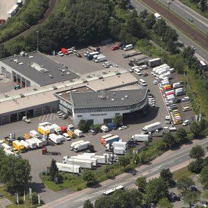 Dortmund, Deutschland, 08.07.2013, Luftbild Dortmund. Daimler Truck, Niederlassung Dortmund. Foto: Michael Printz / PHOTOZEPPELIN.COM