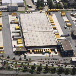 Dortmund, Deutschland, 08.07.2013, Luftbild Dortmund. Dachser Logistik. Foto: Michael Printz / PHOTOZEPPELIN.COM