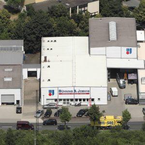 Dortmund, Deutschland, 08.07.2013, Luftbild Bühning & Joswig Werkzeugfachhandel. Foto: Michael Printz / PHOTOZEPPELIN.COM
