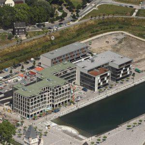 Dortmund, Deutschland, 08.07.2013, Luftbild Dortmund, Phoenixsee, FABS, Ärtzehaus, Gewerbeimmobilien Foto: Michael Printz / PHOTOZEPPELIN.COM