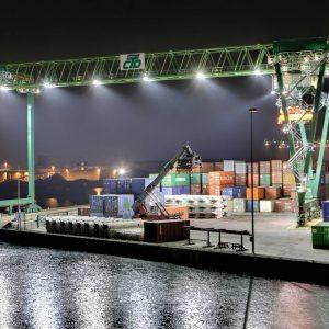 Samstag, 20. Dezember 2008 - Nachtaufnahmen Dortmunder Hafen, Containerterminal Foto: Michael Printz / PRINTZ.NET