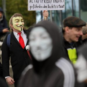 Anti ACTA / Stop ACTA Demonstration in Dortmund. Foto: Michael Printz / PHOTOZEPPELIN.COM