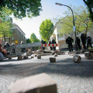 Dienstag, 1. Mai 2007 - Demonstrative Aktionen zum 1. Mai / Rechte, Rechtsradikale / Linke, Linksautonome Foto: Michael Printz / PRINTZ.NET Archivnummer: 2007-05-01-0726-87